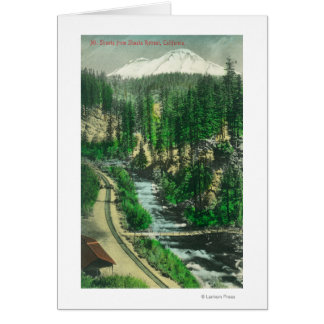 View of Mt. Shasta from Shasta Retreat Greeting Card