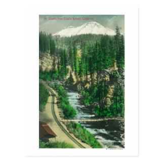 View of Mt. Shasta from Shasta Retreat Postcard