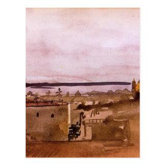 View of Naples by Edgar Degas Postcard