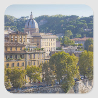View of Rome from Castel Sant' Angelo Square Sticker