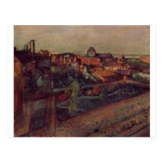 View of Saint-Valery-sur-Somme by Edgar Degas Postcard