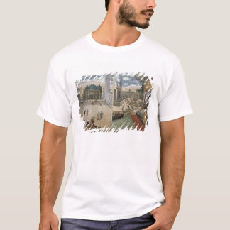 View of San Marco, and the Palazzo Ducale on fire, T-Shirt
