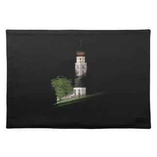 View of San Valentino church by night Cloth Place Mat