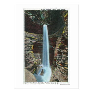 View of Spectacular Cavern Cascade Postcard