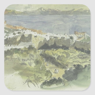 View of Tangier by Eugene Delacroix Square Sticker
