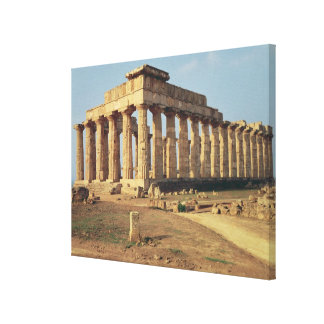 View of Temple E, c.490-480 BC Canvas Print