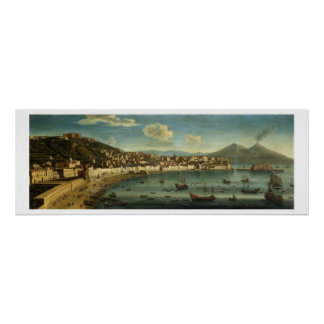 View of The Bay of Naples from the Bay of Chiaia ( Poster