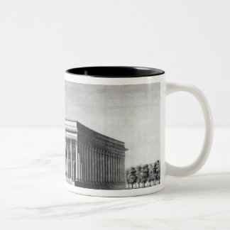 View of the Bourse Imperial Palace Two-Tone Coffee Mug