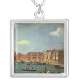 View of the Canal of Santa Chiara, Venice Silver Plated Necklace