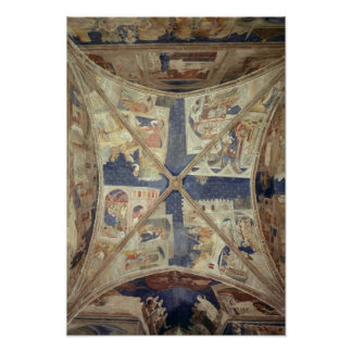 View of the ceiling of the chapel of the Tinel Poster