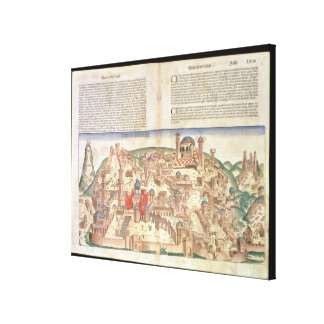View of the city of Jerusalem, from the Nuremberg Canvas Print