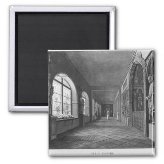 View of the cloister, Musee des Monuments Square Magnet