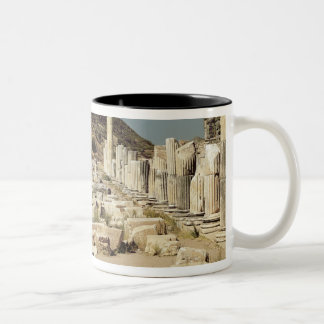 View of the columns on the Upper Market Agora Two-Tone Coffee Mug