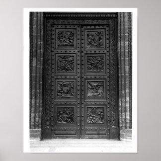 View of the door of La Madeleine Poster