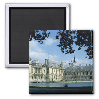 View of the Grand and Petit Chateau Square Magnet