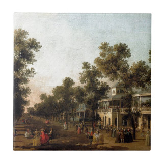 View Of The Grand Walk, vauxhall Gardens Small Square Tile