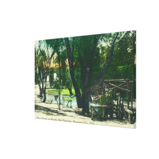 View of the Hot Springs Pond Canvas Print