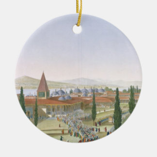 View of the Inner Courtyard of the Seraglio, Topka Christmas Ornament