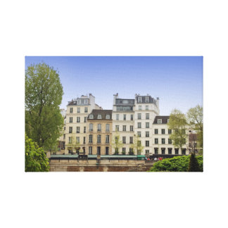 View of the Left Bank, Paris France Stretched Canvas Print