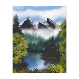 View of the Misty Mountains Canvas Print