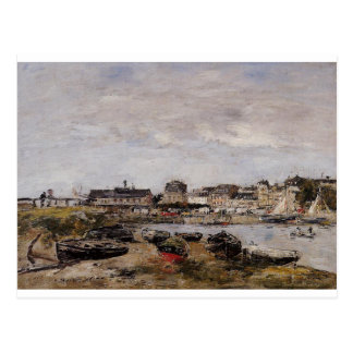 View of the Port, Trouville by Eugene Boudin Postcard