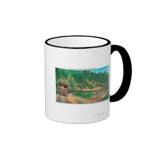 View of the Shasta TrainCow Creek Canyon, OR Ringer Mug