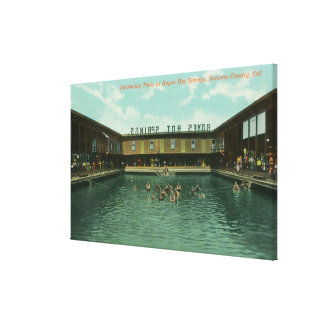 View of the Swimming Tank Canvas Print