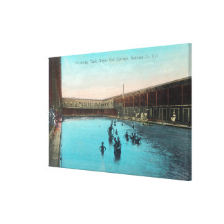 View of the Swimming TankBoyes Hot Springs, CA Canvas Print