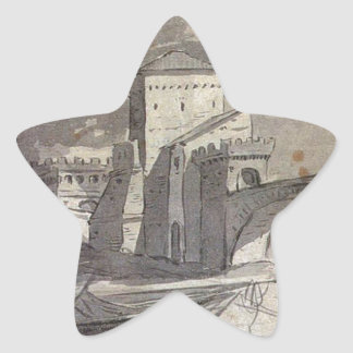 View of the Tiber and Castel St. Angelo by Jacques Star Sticker