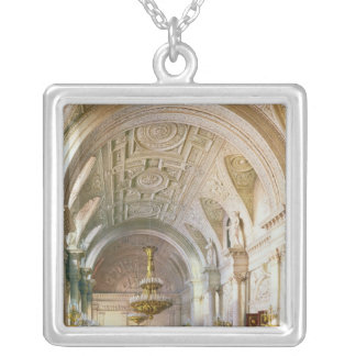 View of the White Hall in the Winter Palace Silver Plated Necklace