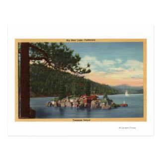View of Treasure Island Postcard