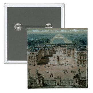 View of Versailles 15 Cm Square Badge