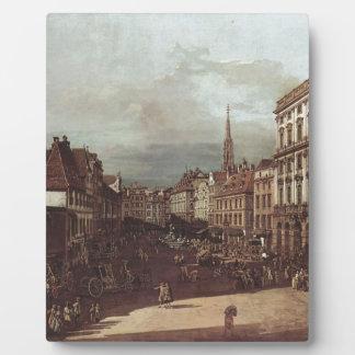 View of Vienna, flour market of Southwest Display Plaque