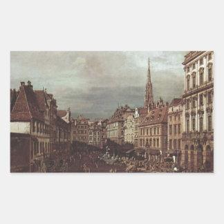 View of Vienna, flour market of Southwest Rectangular Sticker