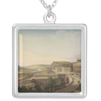 View of Vienna in Roman Times, 1860 Silver Plated Necklace