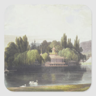 View of Virginia Water with Garden Temples, from ' Sticker