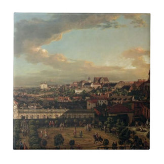 View of Warsaw from the terrace of the Royal Castl Tile