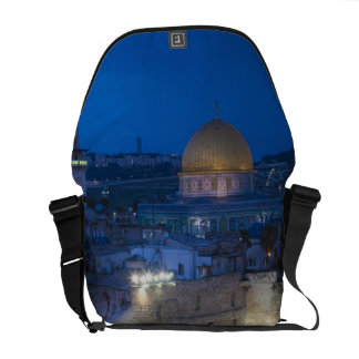 View of Western Wall Plaza, late evening Messenger Bags