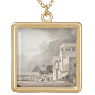 View on the Chitpore Road, Calcutta, plate II from Gold Plated Necklace