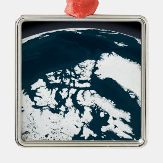 View over Greenland and the Arctic Ocean Christmas Ornament