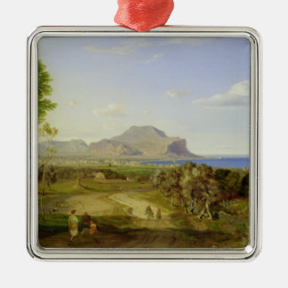 View over Palermo, 1828 Christmas Ornament