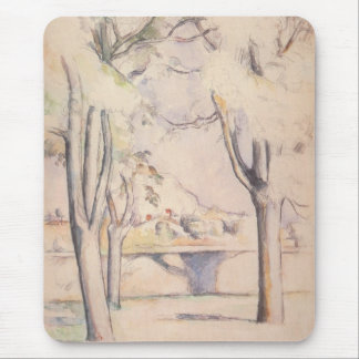 View Thru the Trees by Paul Cezanne, Vintage Art Mouse Pad