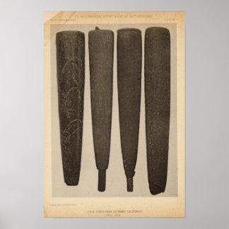 VII Stone pipes, So Calif Print
