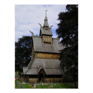 Vik Stave Church Poster