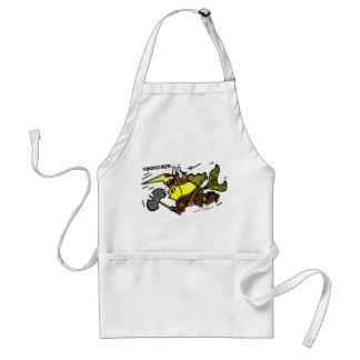 Viking Fish funny cute sparky comics medieval Standard Apron