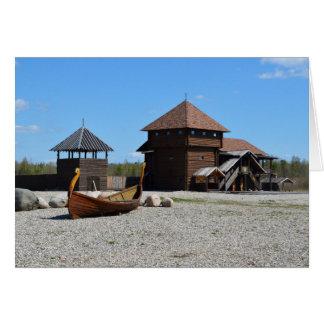 Viking museum greeting card