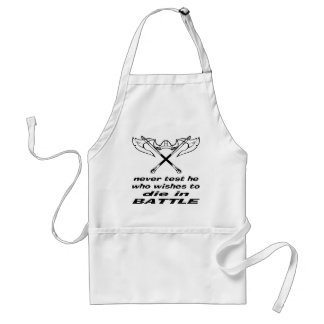 Viking Never Test He Who Wishes To Die In Battle Standard Apron