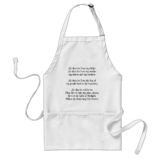 Viking Prayer Lo There Do I See My Father Standard Apron
