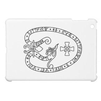 Viking Rune Stone black wild duck white iPad Mini Covers