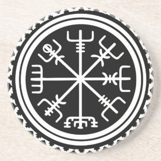 Viking Vegvisir Nautical Compass Beverage Coaster